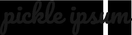 Pickle Ipsum Logo