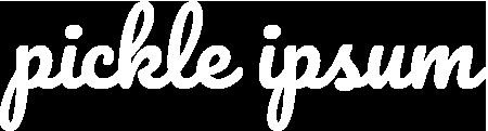 Pickle Ipsum Logo White